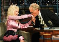 Dolly Parton jokes with David Letterman on June 29, 2010