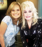Dolly Parton with Suzanne Alexander on GAC's On The Street