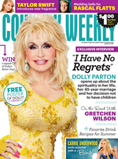 Dolly Parton on the cover of Country Weekly magazine's August 29th issue