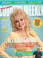 Dolly Parton appears on the cover of the January 20th issue of Country Weekly magazine